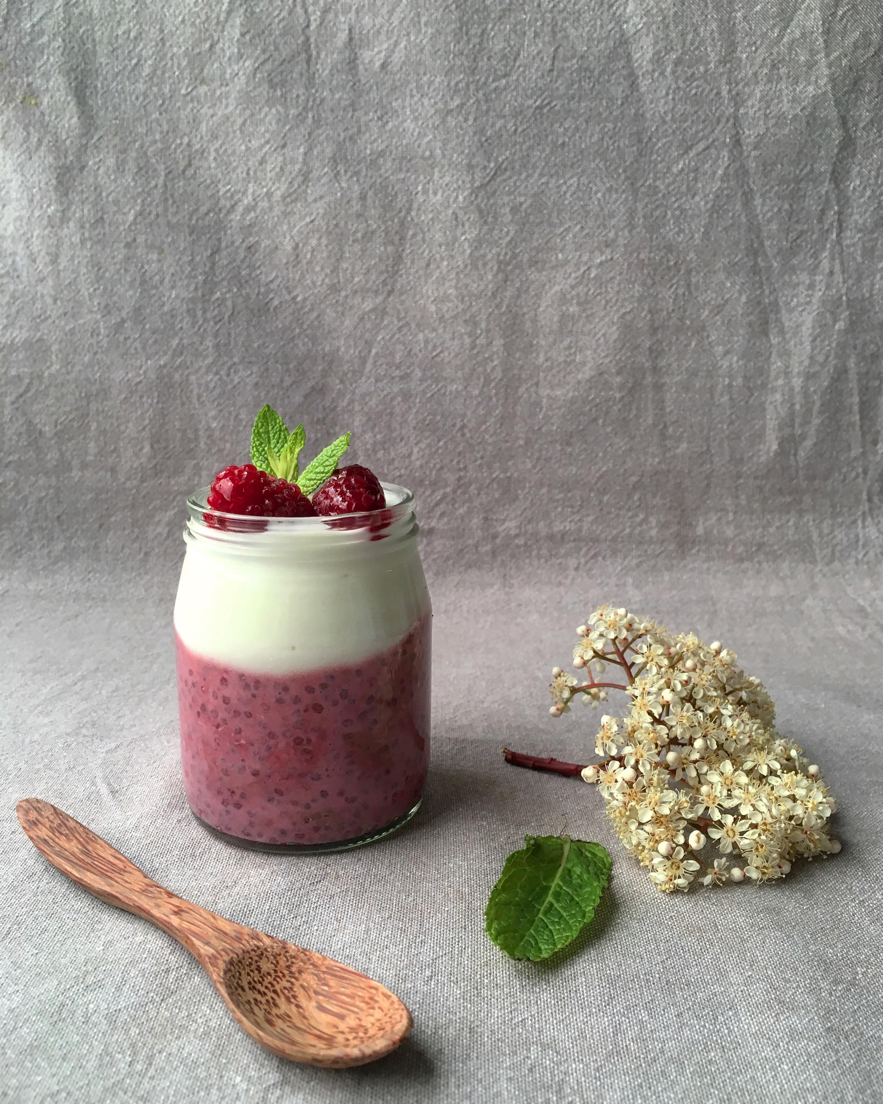 Pudding-de-chia-con-frambuesa-y-yogur-griego