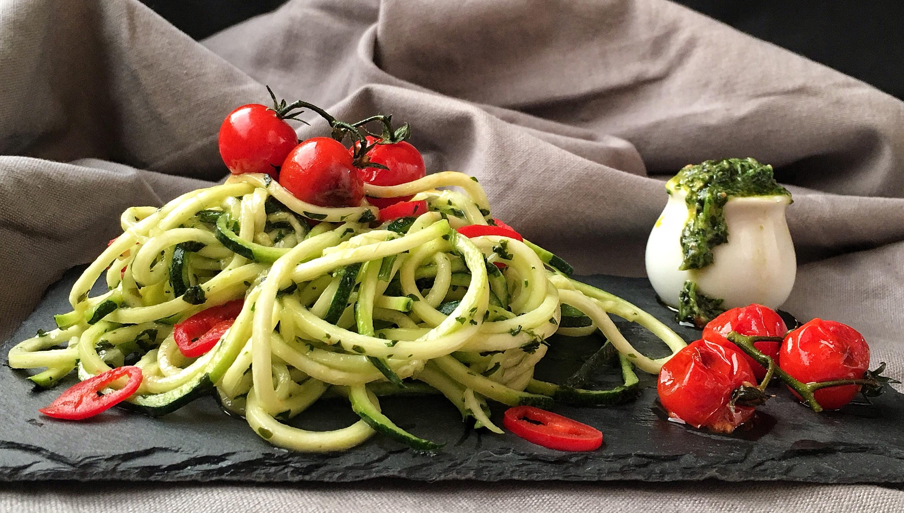 spaghetti calabacín