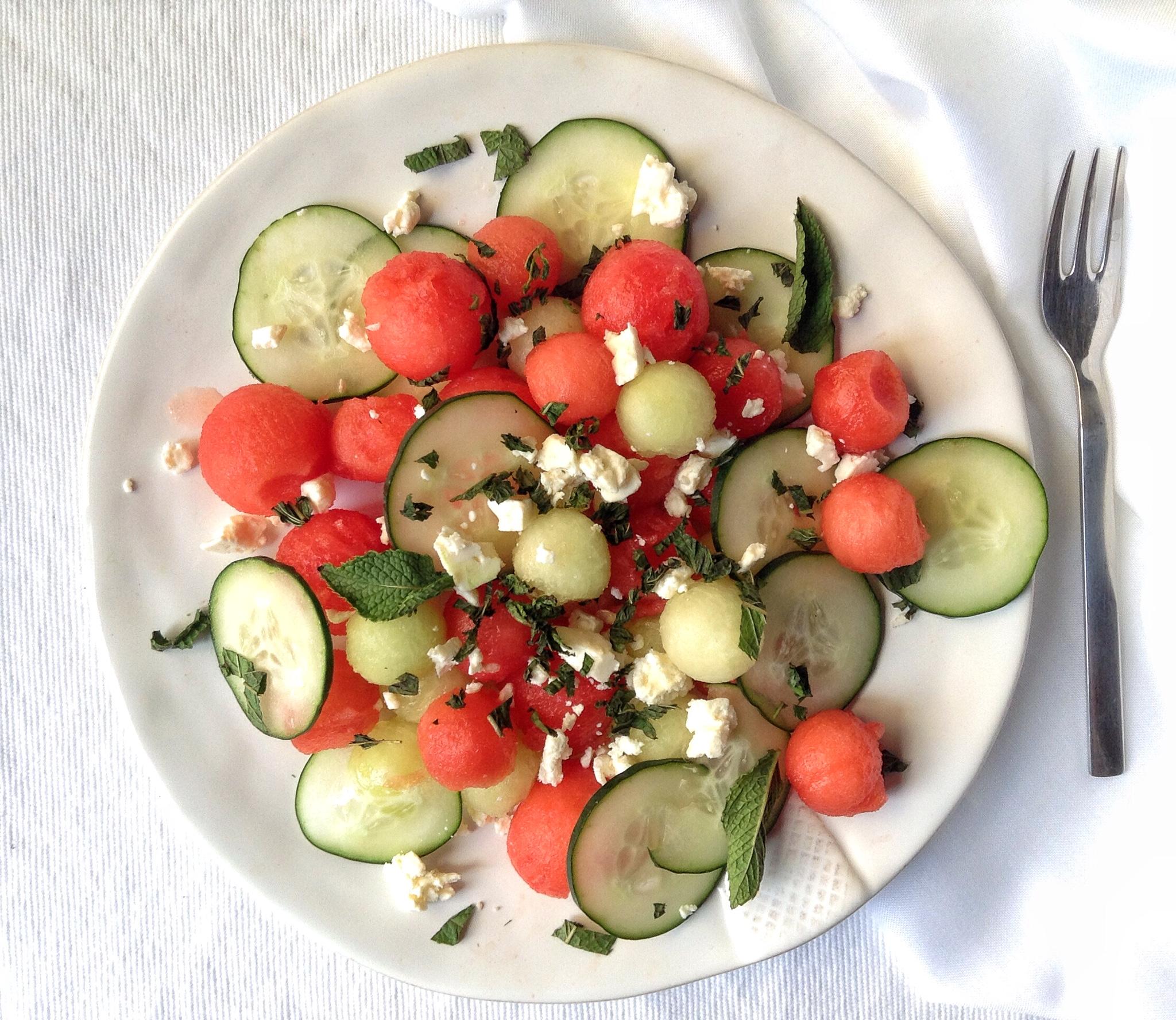 Sandía-melón-pepino-feta